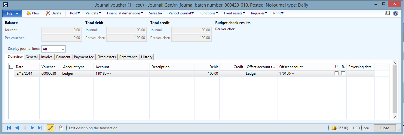 duplicate consolidation transactions in ax 2012