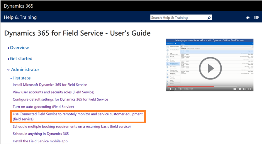 Dynamics 365 for Field Service – User's Guide