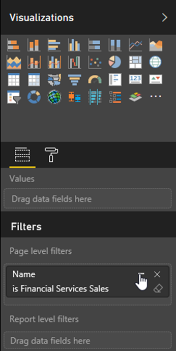 Page level filters