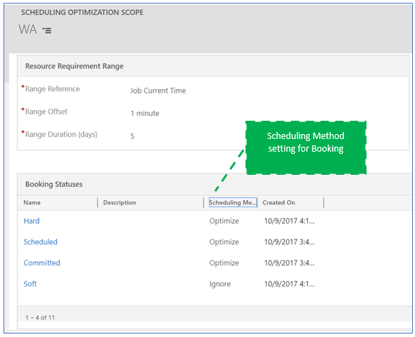 Show booking statuses in the schedule optimization scope