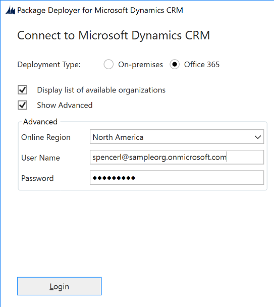 Connect to Microsoft Dynamics CRM