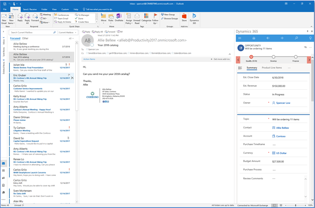 View Dynamics 365 records in app