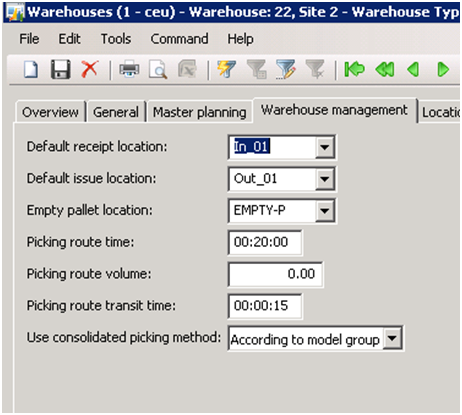 WMS in Microsoft Dynamics AX 2009  Outbound Process Setup