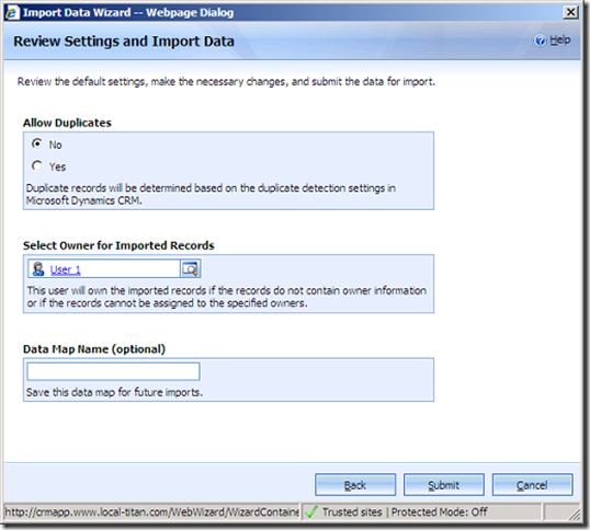 Owner Mapping/User creation in Import Data Wizard for Microsoft