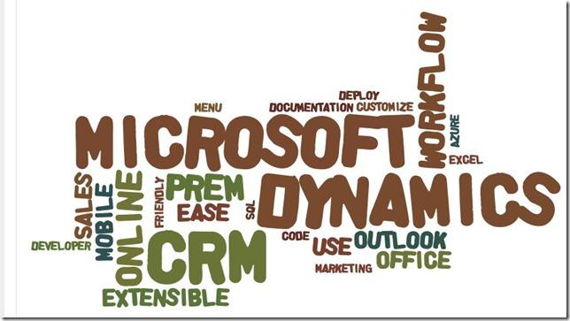 Microsoft Dynamics CRM as a Tag Cloud via Wordle - Dynamics 365 Blog
