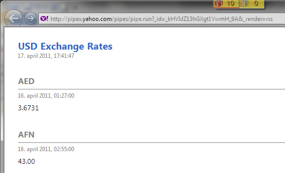 Currency Exchange Rates from RSS - Dynamics 365 Blog