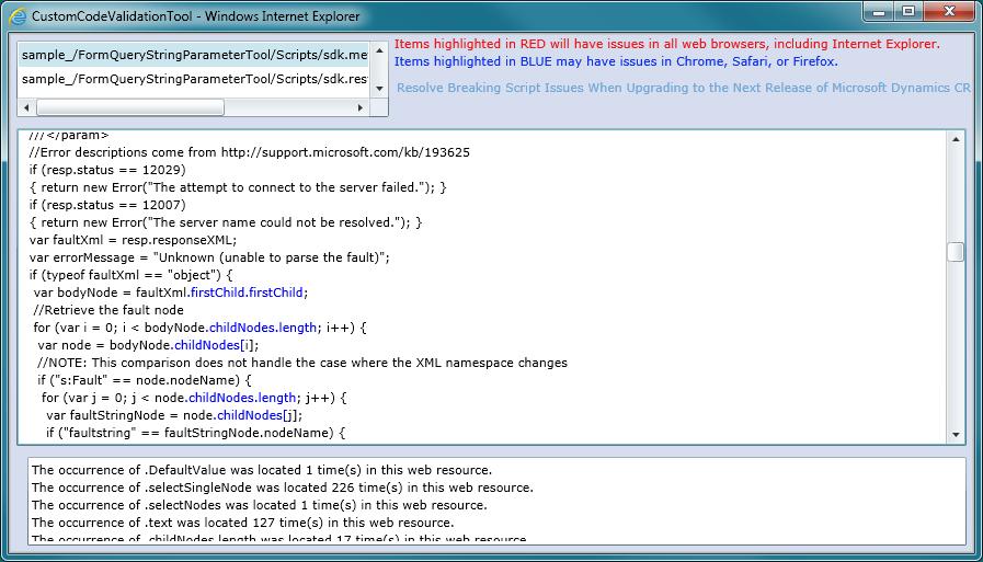 Microsoft Dynamics CRM 2011 Custom Code Validation Tool Released