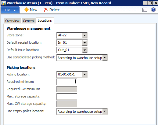 Setup principals for processing pallets in Microsoft