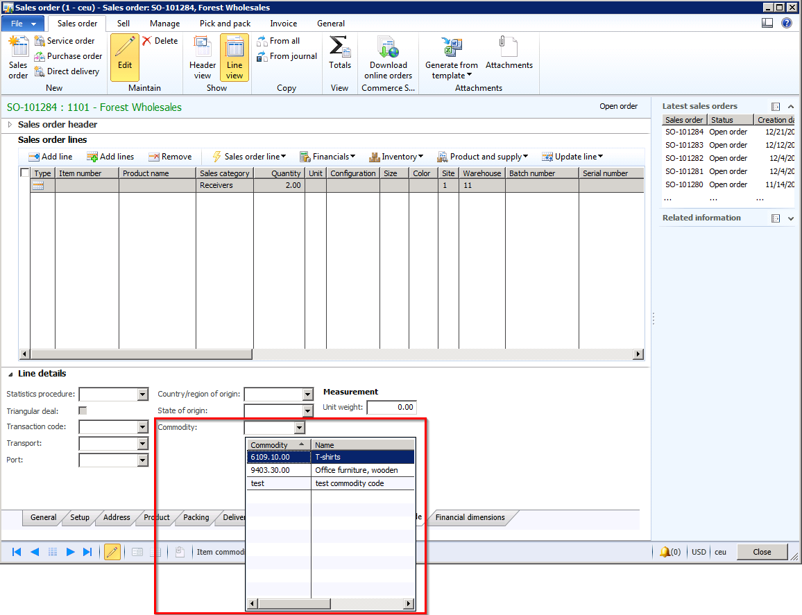 Dynamics AX 2012: A common misconception about Commodity Codes
