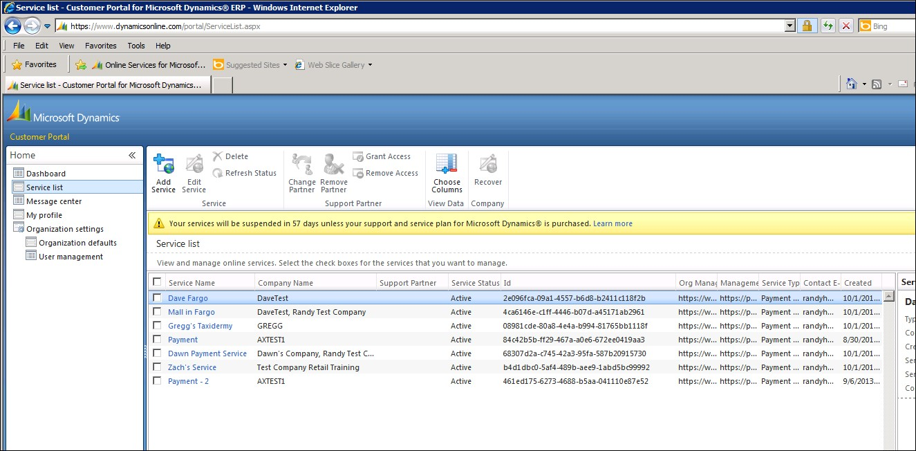 AX 2012 R2 - Connecting a Dynamics Online payment service to AX