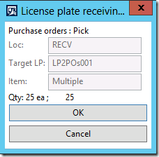 License plate receiving, step 3