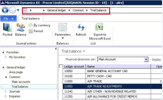 Trial balance transactions missing after applying KB3024254