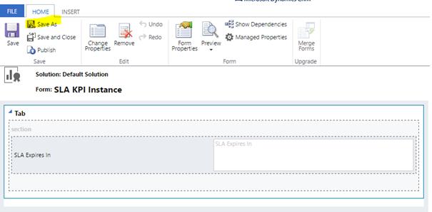 SLA KPI Instance Form