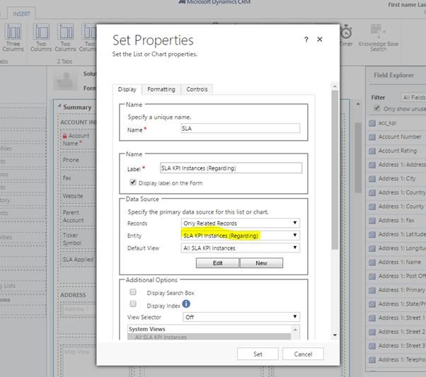 Set SLA KPI instance properties