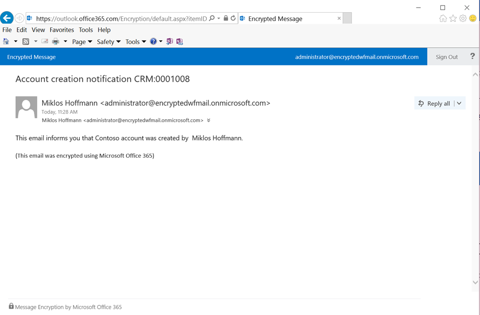 Read workflow notification email