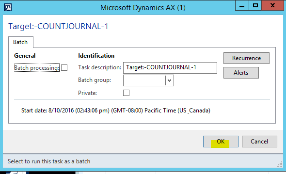 How to use DIXF to import an Inventory counting journal into AX 2012