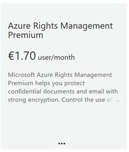 Add Azure Rights Management Premium subscription