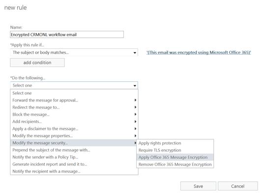 Set Office 365 Message Encryption