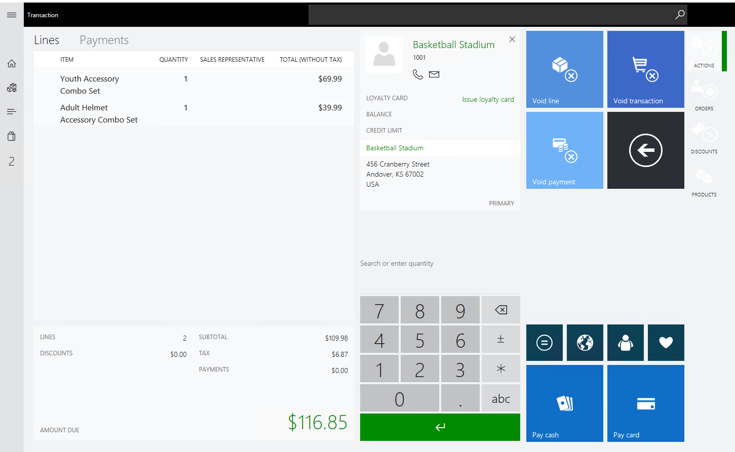Dynamics 365 for Operations Carryout Item and Pick up item