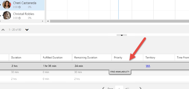 Initiate Search with the Find availability button