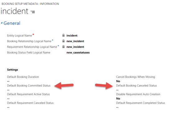 Set a default booking status