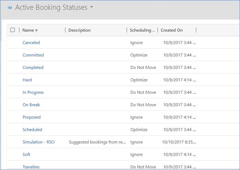 Configure scheduling method for booking status