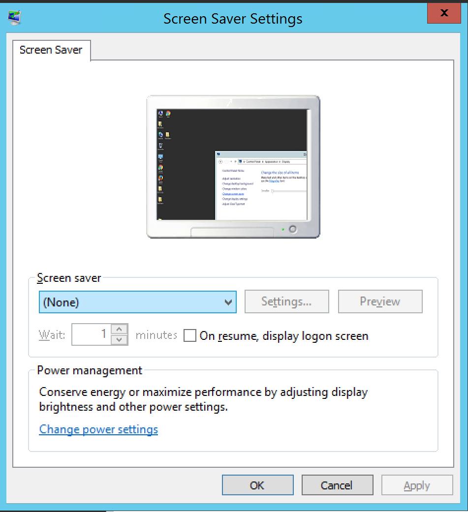 Turn off Screen Saver