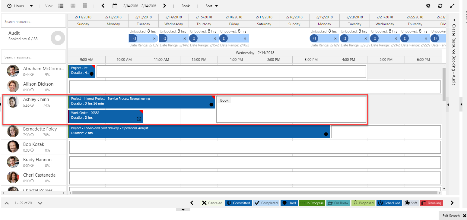 Asterisk to identify overlapping bookings in Schedule Assistant
