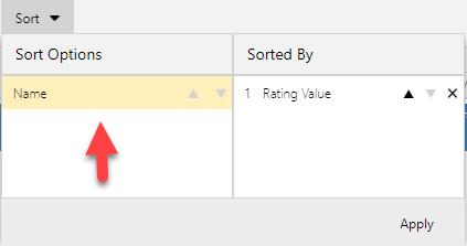 Remove Sort options