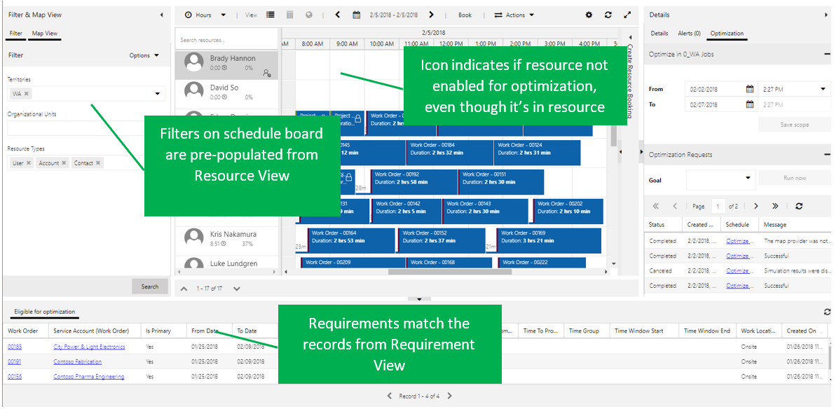 Requirements match the records from Requirement View