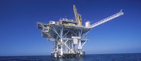 Oil platform between Ventura and Channel Islands, CA