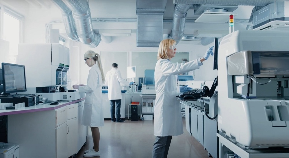 medical professionals in a lab setting