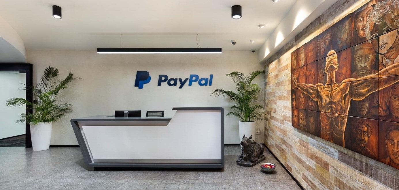 Empfang der Firma PayPal