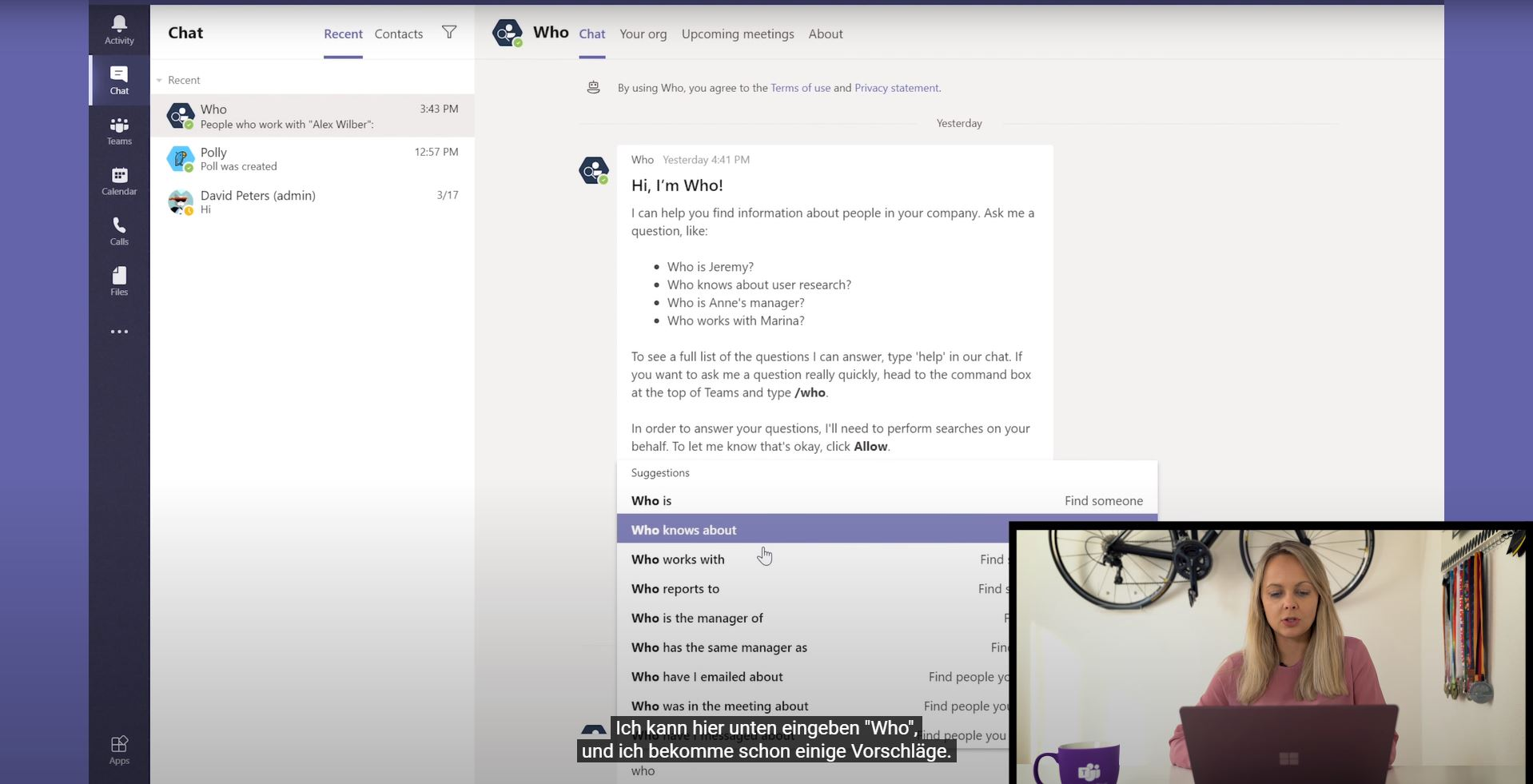 Video Vorschaubild für Chat-Bot in Microsoft Teams