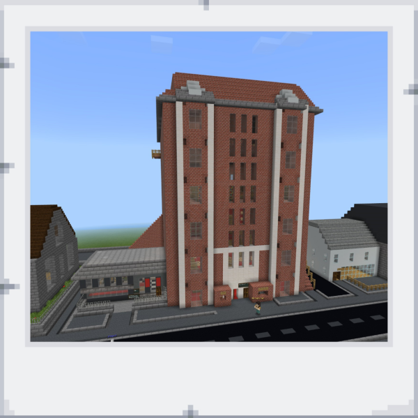 A building in Minecraft