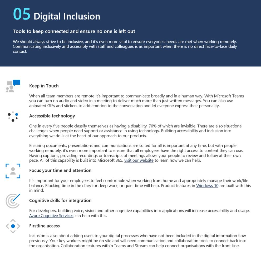 Snapshot of the Digital Inclusion page on the Resilience Report