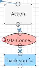 A screenshot showing the connection between the Action Block from Step 1 and the Data Connection Call.