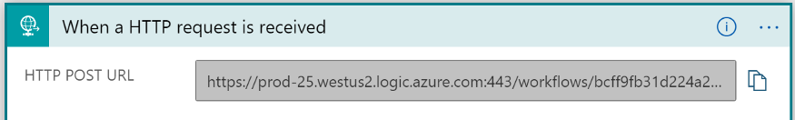 A screenshot of the newly generated HTTP POST URL.