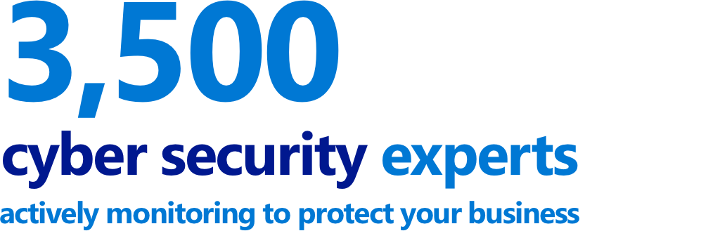 3,500 cybersecurty experts monitoring your data graphic