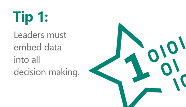 Rule number 1… leaders must embed data into all decision making.