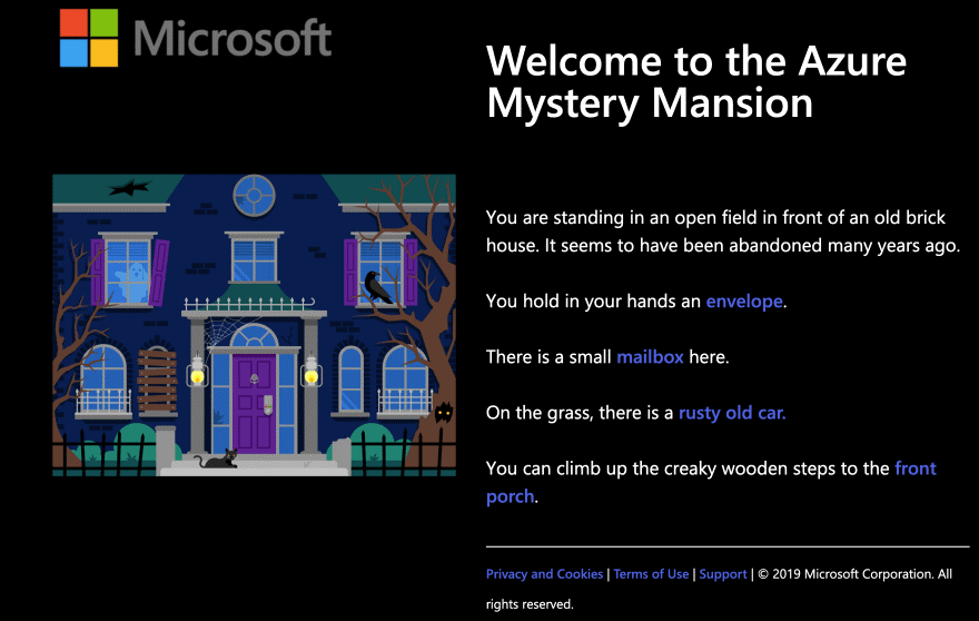 Azure Mystery Mansion infographic