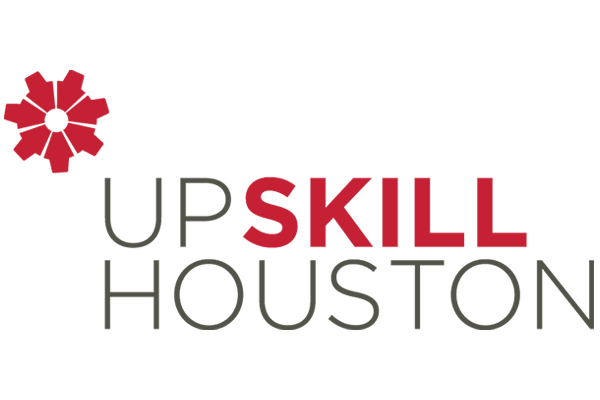 Upskill Houston logo.