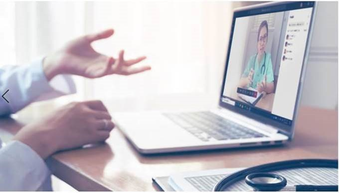 Person in a Teams video call