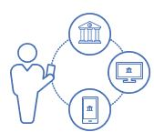 banking apps graphic