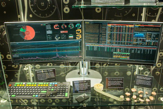 Fintech - Bloomberg Terminal Close Up