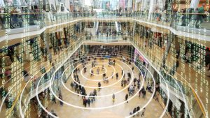 Visualization of data in a shopping mall