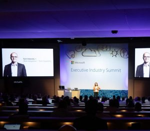 Noelle LaChartie, Director, Digital Evangelism, Microsoft speaking at Executive Industry Summit