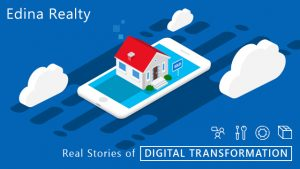 "A pop-up house on a smartphone, ""Edina Realty. Real Stories of Digital Transformation"""