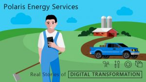 "Man holding a phone "" Polaris Energy Services"""
