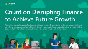 "Infographic, ""Count on Disrupting Finance to Achieve Future Growth"""